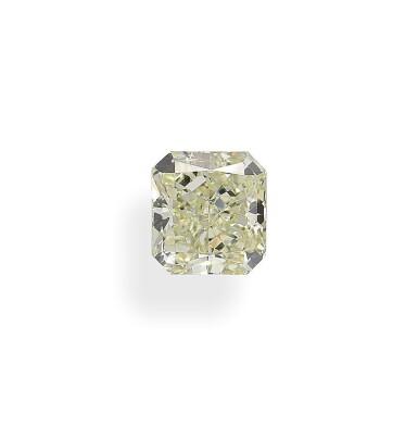 A 2.26 Carat Cut-Cornered Rectangular Modified Brilliant-Cut Diamond, Y-Z Color, VS2 Clarity
