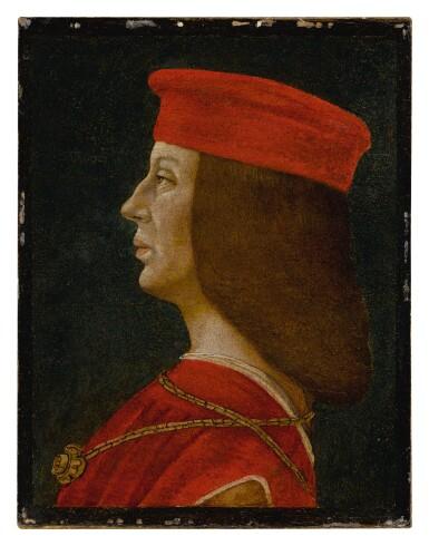 View 2. Thumbnail of Lot 9. Profile portrait of a condottiero.