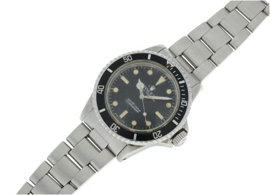 View 5. Thumbnail of Lot 105. ROLEX | REFERENCE 5513 SUBMARINER A STAINLESS STEEL AUTOMATIC WRISTWATCH WITH BRACELET, CIRCA 1970.