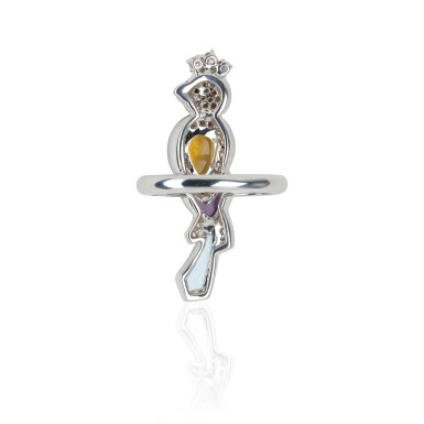 View 2. Thumbnail of Lot 13. GEM SET AND DIAMOND RING, MICHELE DELLA VALLE.