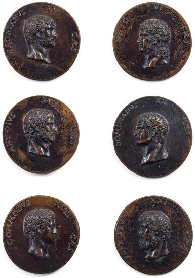 ITALIAN, CIRCA 1800 | SET OF 50 MEDALLIONS OF ROMAN EMPERORS, EMPRESSES, MEMBERS OF THE IMPERIAL FAMILY AND OTHER PROMINENT ROMANS