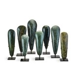 Papua New Guinea, Lake Sentani, late 19th/early 20th century | Eight Adze Ceremonial Blades (Obligation Stones)