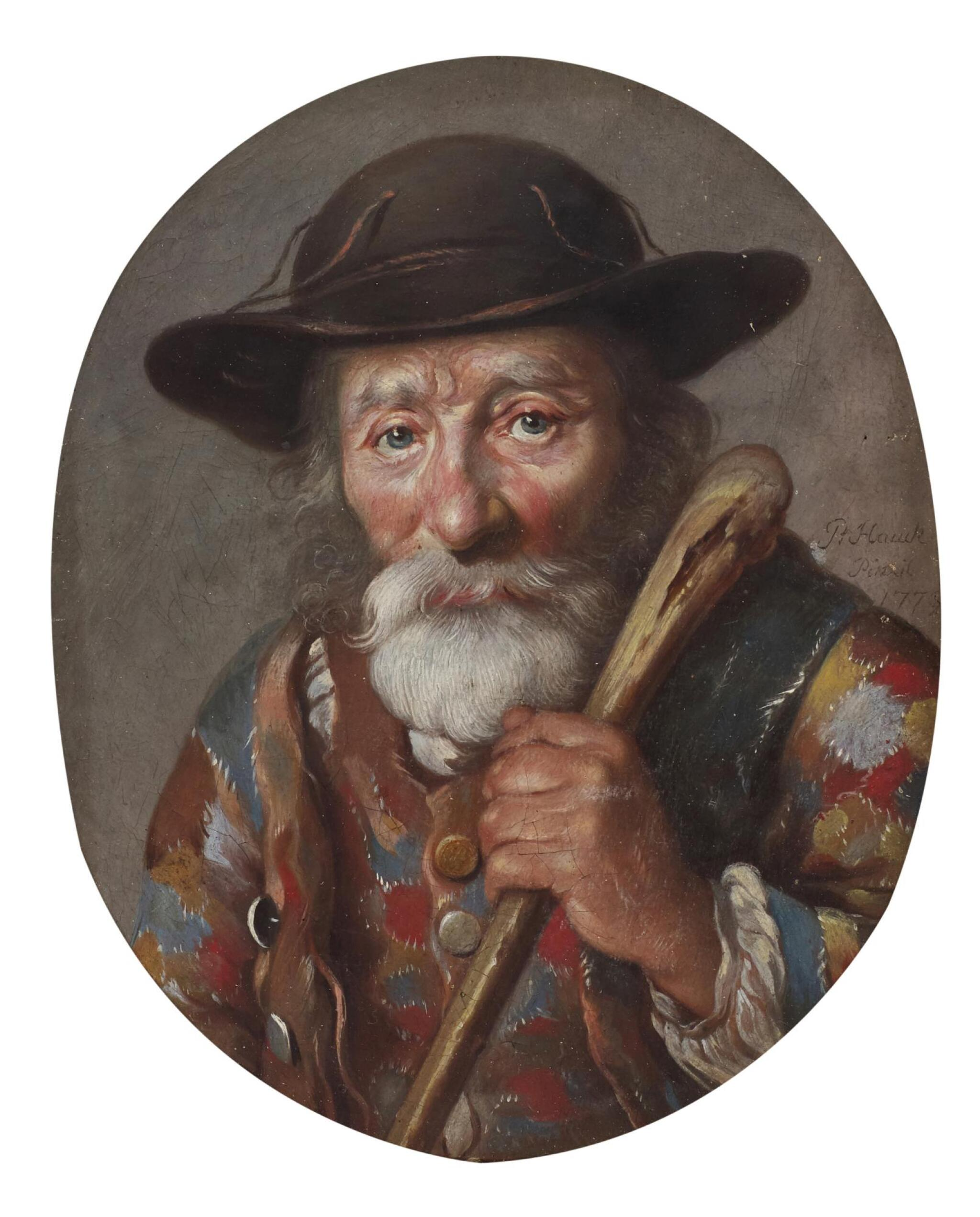 View full screen - View 1 of Lot 66. J. P. HAUCK | A portrait of a Savoyard.