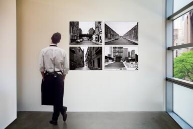 View 14. Thumbnail of Lot 36. 'Clinton Road', Murdock Cottages, London, 1977; 'Panorama 2', Beaugrenelle, Paris, 1979; 'Gereonswall', Koln, 1980; 'Calle Tintoretto', Venezia, 1990.