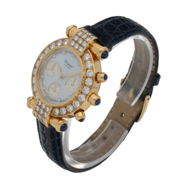 View 2. Thumbnail of Lot 176. IMPERIALE, REF 4043 YELLOW GOLD AND DIAMOND-SET CHRONOGRAPH WRISTWATCH WITH MOTHER-OF-PEARL DIAL CIRCA 1996.