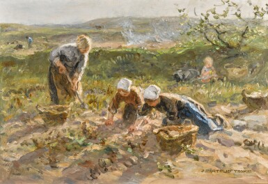 View full screen - View 1 of Lot 163. The Potato Harvest.