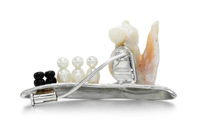 View 3. Thumbnail of Lot 275. GEOFF ROWLANDSON | CULTURED PEARL AND ONYX BROOCH.