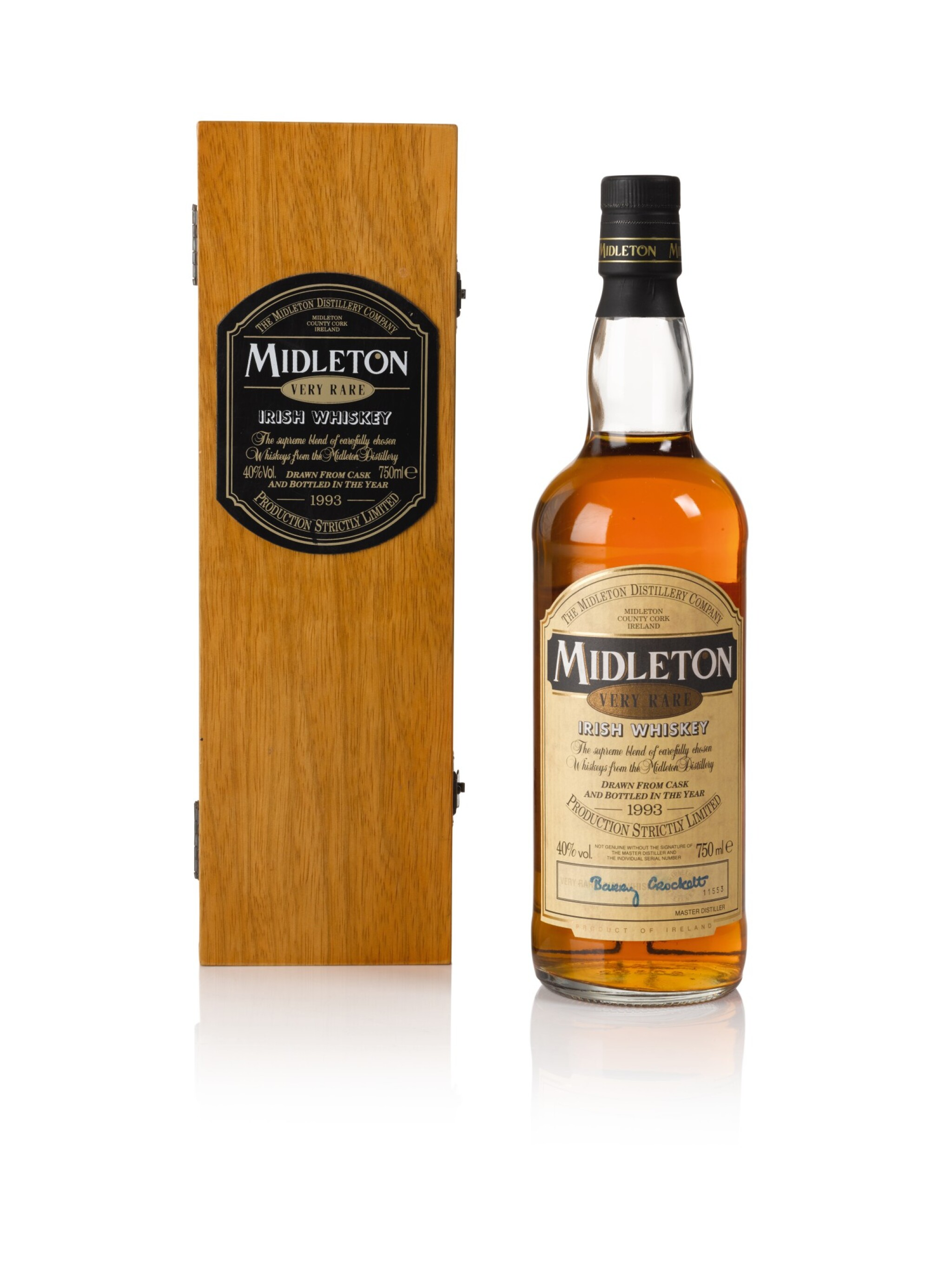 View full screen - View 1 of Lot 101. Midleton Very Rare 1993 Release 40.0 abv NV .