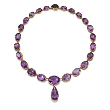 View 1. Thumbnail of Lot 224. AMETHYST NECKLACE.