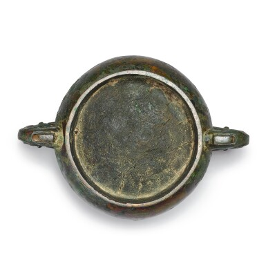 View 6. Thumbnail of Lot 193. An important documentary archaic bronze ritual food vessel (Gui), Late Shang dynasty, probably c. 1072 BC | 商末 或約公元前1072年 小子□簋.