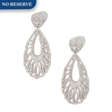 View 1. Thumbnail of Lot 18. Palmiero | Pair of Diamond Pendant-Earrings.