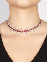 VAK | 'THE VINE' RUBY AND DIAMOND NECKLACE / BRACELET | VAK | 'The Vine' 紅寶石 配 鑽石 項鏈 / 手鏈