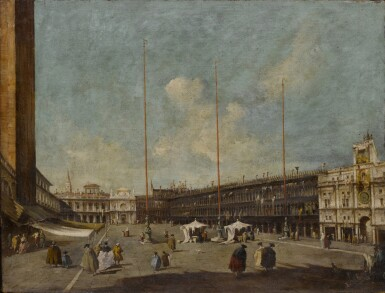 View 5. Thumbnail of Lot 22. Venice, a view of St. Mark's Square towards San Geminiano & Venice, a view of the Piazzetta towards San Giorgio Maggiore.