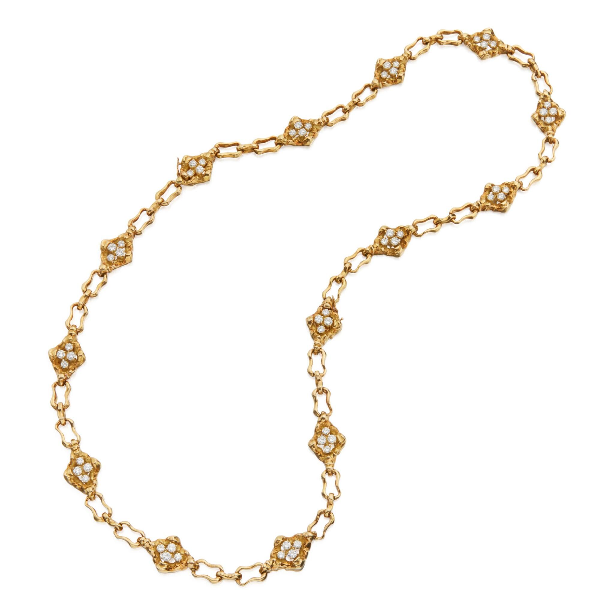 GOLD AND DIAMOND NECKLACE, BOUCHERON, FRANCE