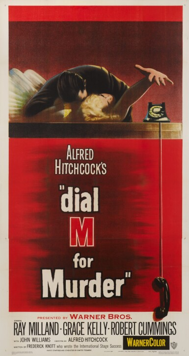 View 1. Thumbnail of Lot 69. DIAL M FOR MURDER (1954) POSTER, US.