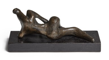 View 3. Thumbnail of Lot 131. Maquette for Reclining Figure.