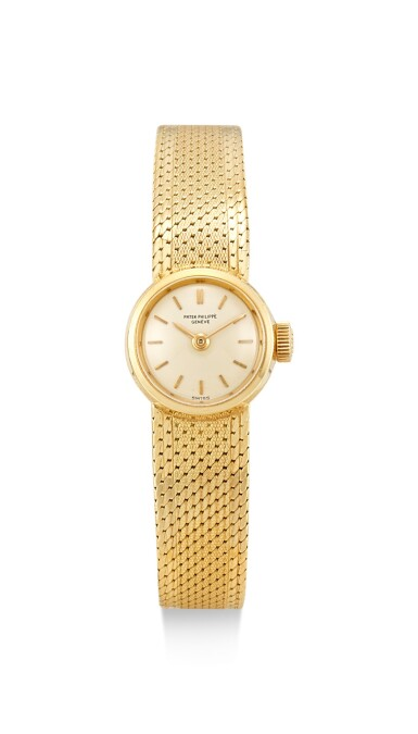 PATEK PHILIPPE | REFERENCE 3266/13, A YELLOW GOLD BRACELET WATCH, MADE IN 1961