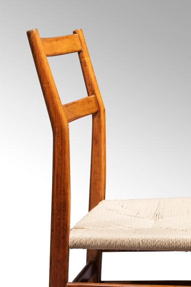 View 4. Thumbnail of Lot 2. Four Superleggera chairs, model no. 699, designed in 1957     .
