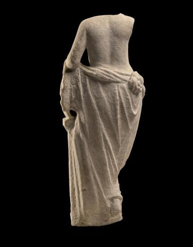View 3. Thumbnail of Lot 241. A ROMAN MARBLE FOUNTAIN FIGURE OF A NYMPH, CIRCA 2ND CENTURY A.D..