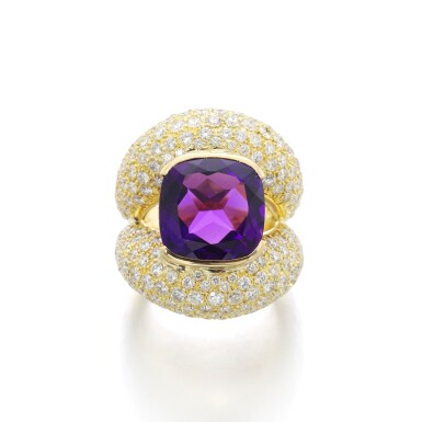 View 1. Thumbnail of Lot 3. MICHELE DELLA VALLE | AMETHYST AND DIAMOND RING.
