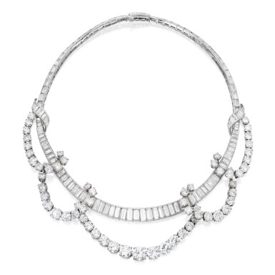 View 1. Thumbnail of Lot 93. Diamond Necklace [鑽石項鏈].