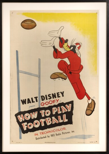 View 2. Thumbnail of Lot 21. HOW TO PLAY FOOTBALL (1944) POSTER, US.