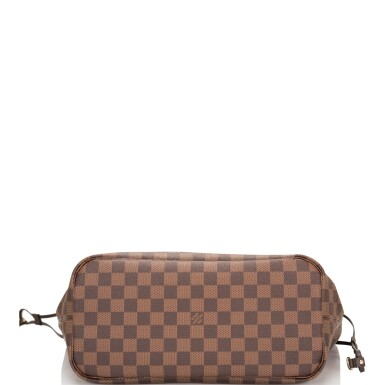 View 8. Thumbnail of Lot 86. Louis Vuitton Patches Neverfull MM of Damier Ebene Canvas with Polished Brass.