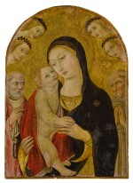 Madonna and Child surrounded by Saint John, Saint Bernardino of Siena, and angels