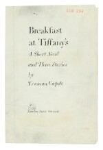 CAPOTE | Breakfast at Tiffany's, revised typescript, 1958