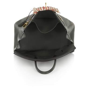 View 4. Thumbnail of Lot 34. Vert Cypress Birkin 35cm in Togo Leather with Gold Hardware, 2012.
