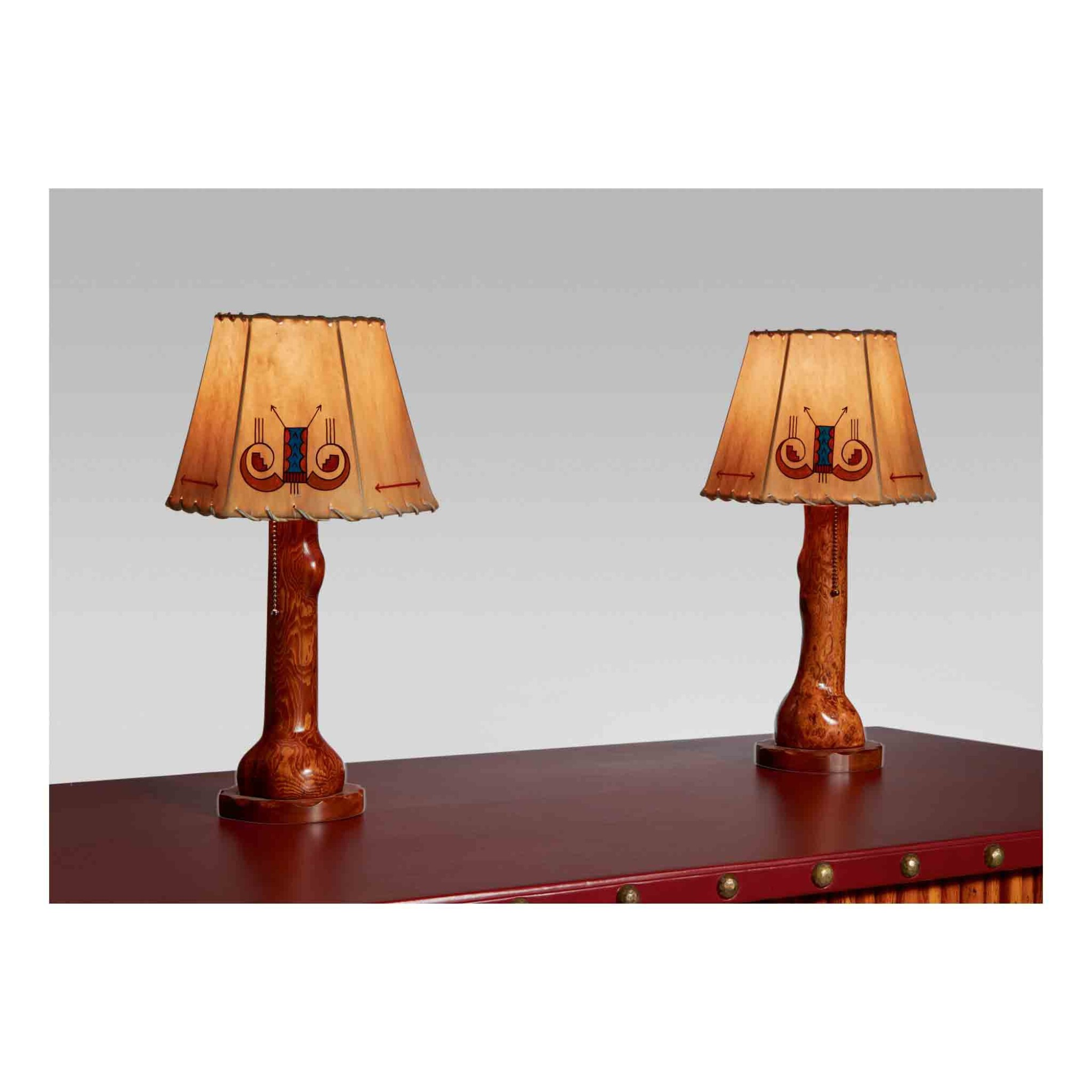 View 1 of Lot 306. Pair of Table Lamps.