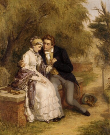View 1. Thumbnail of Lot 48. WILLIAM POWELL FRITH, R.A. | The Lover's Seat.