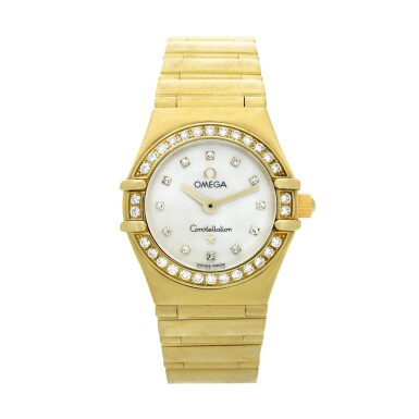 View 1. Thumbnail of Lot 28. Reference 895 1243 Constellation  A yellow gold and diamond-set bracelet watch with mother-of-pearl dial, Circa 1998 .