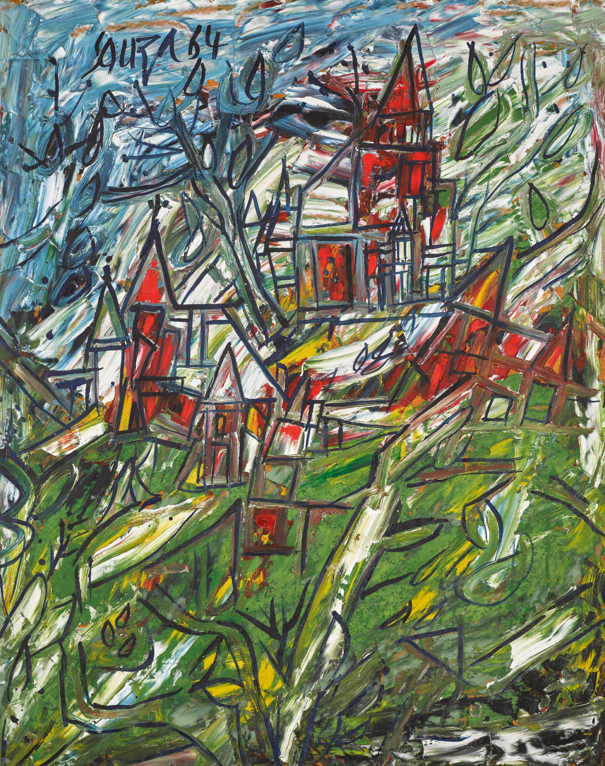 View full screen - View 1 of Lot 138. FRANCIS NEWTON SOUZA | Untitled (Landscape).