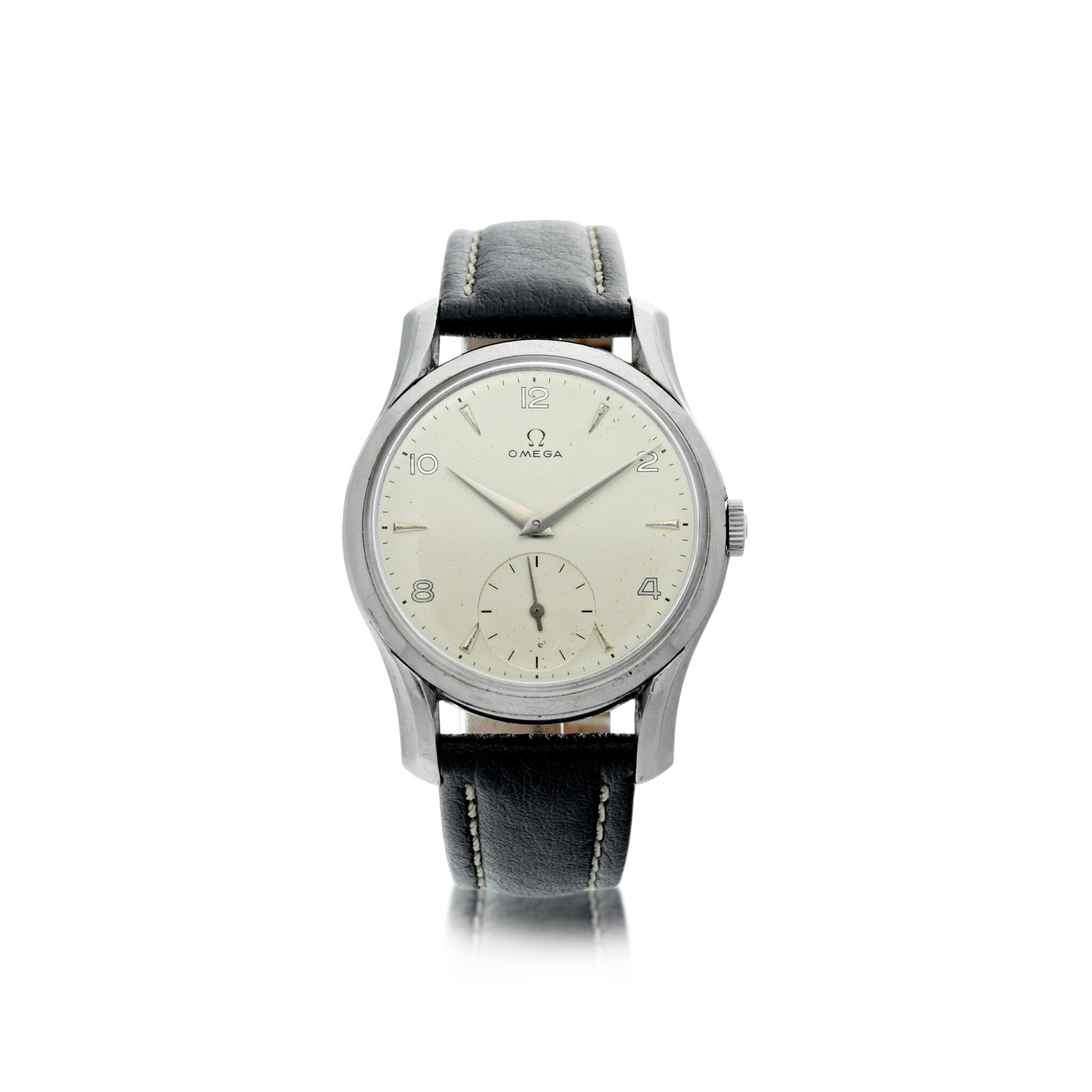 View full screen - View 1 of Lot 62. REFERENCE 2487-5 A STAINLESS STEEL WRISTWATCH, CIRCA 1960.