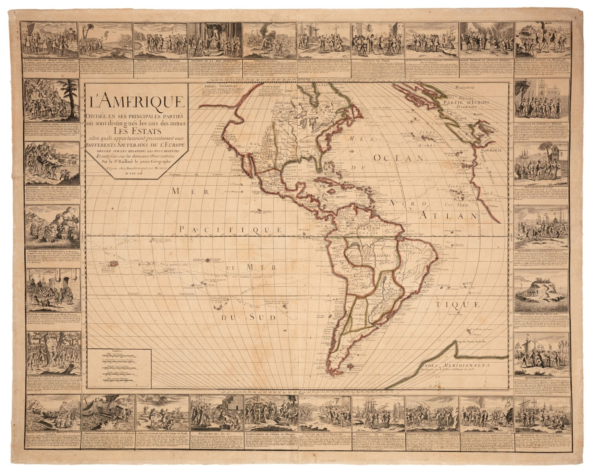 View full screen - View 1 of Lot 56. Wall maps | A set of four French wall maps of the continents, 1752.