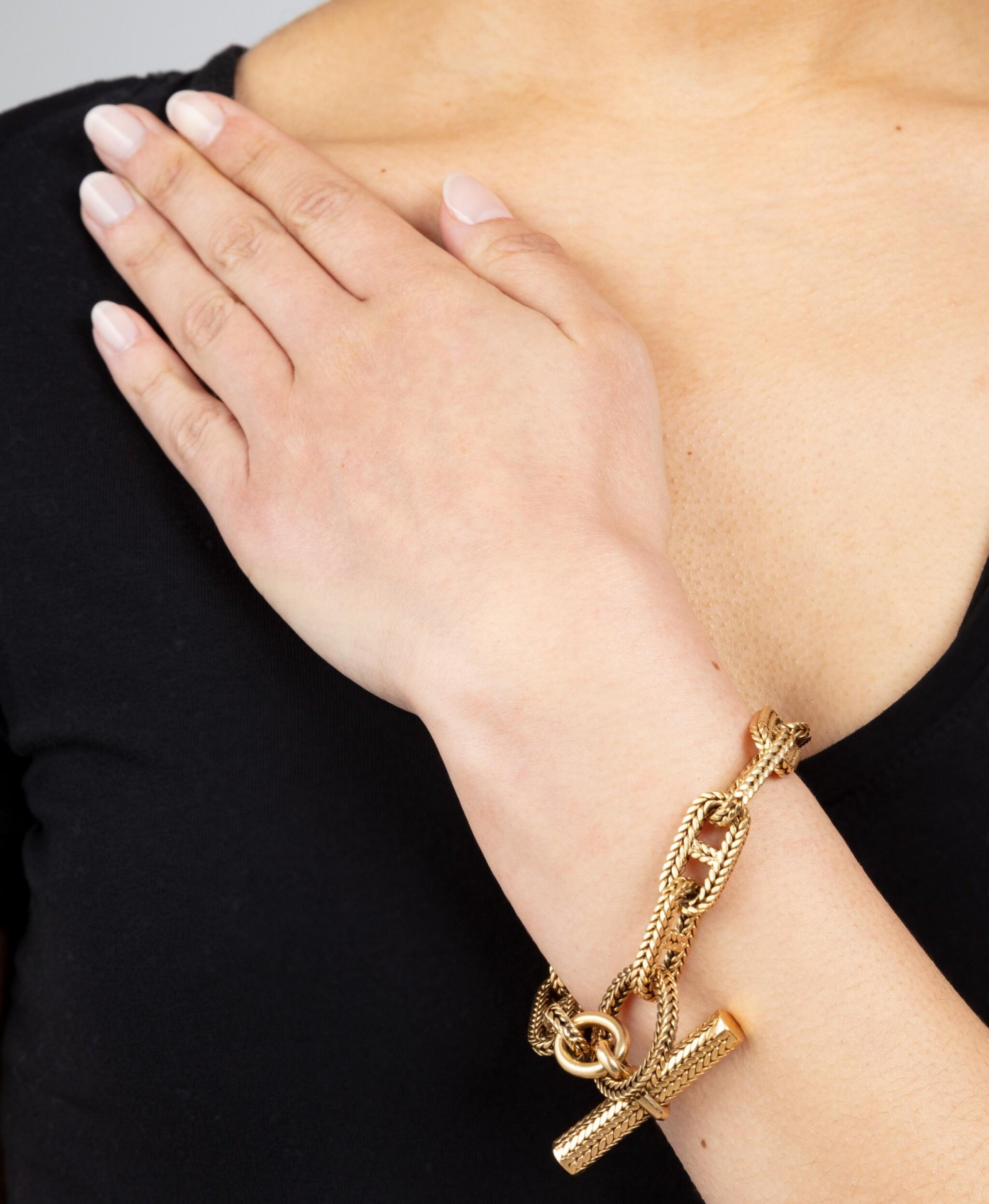 Or argent chanceux numéro 8 conçu amour bracelet chaîne de coeur ZH ITHWC