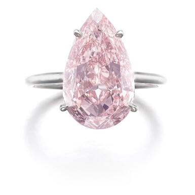 View 1. Thumbnail of Lot 321. IMPORTANT FANCY PINK DIAMOND RING.
