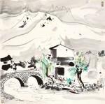 吳冠中 Wu Guanzhong   憶玉龍山 Memories of Mount Yulong