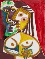 Homme et femme au bouquet   《男子與持花的女子》