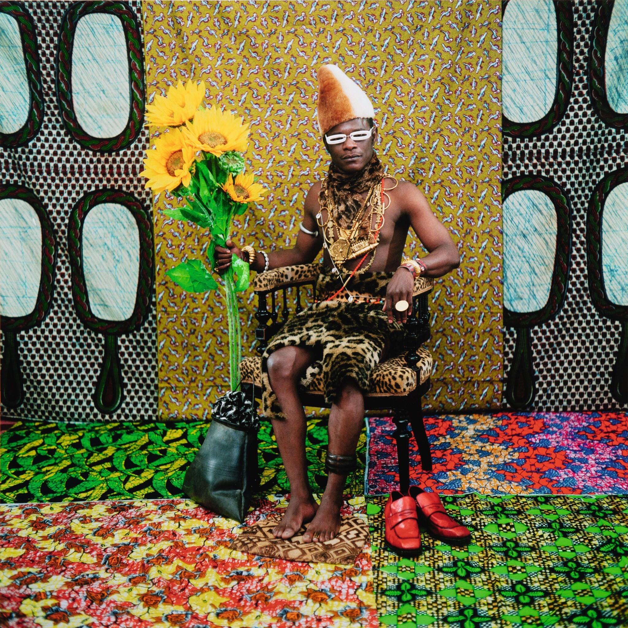 View full screen - View 1 of Lot 11. SAMUEL FOSSO | LE CHEF: CELUI A VENDU L'AFRIQUE AUX COLONS, TATI SERIES, 1997.