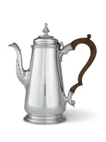 An American Silver Coffee Pot, Samuel Casey, South Kingstown, RI, circa 1755-60