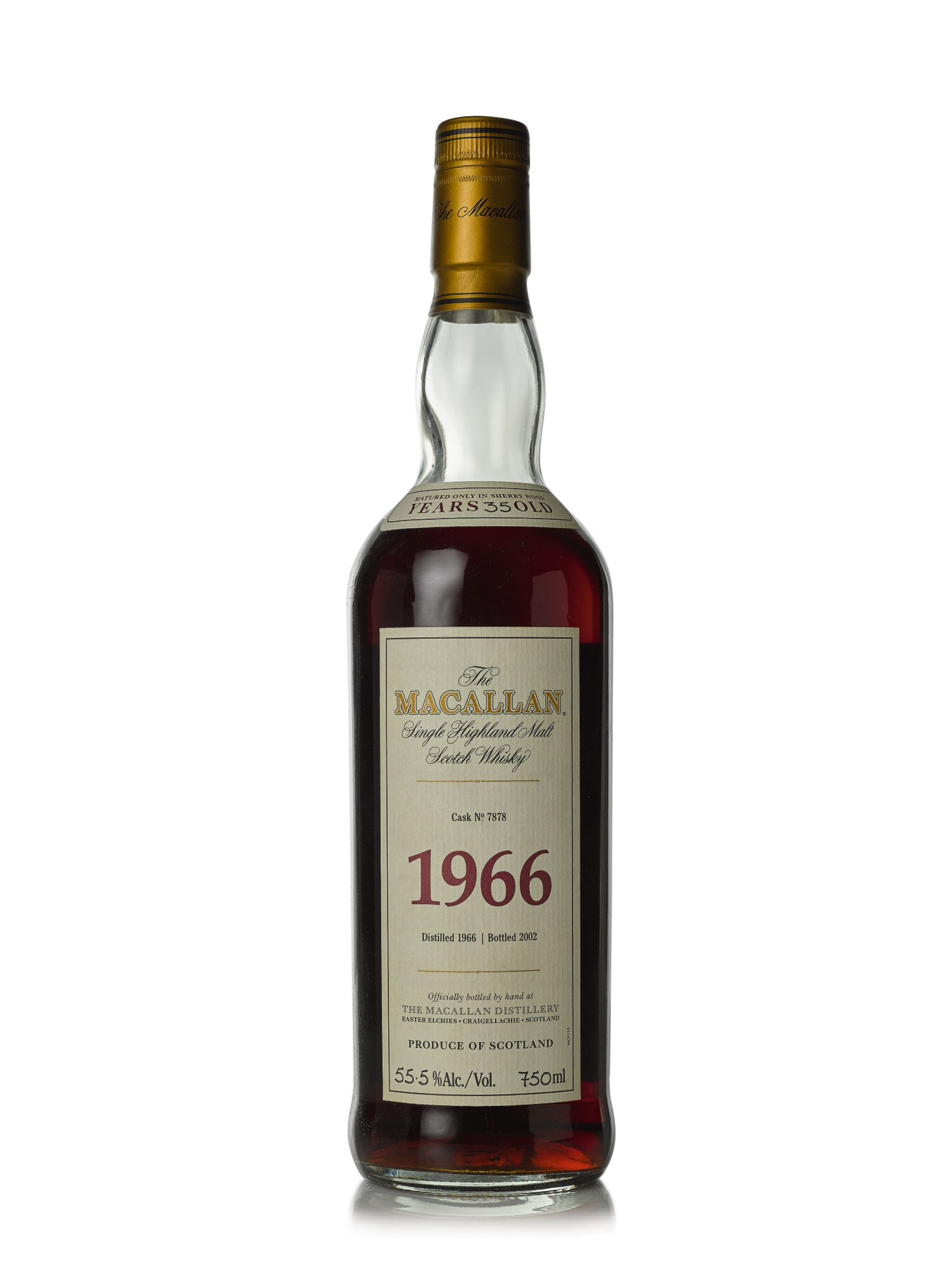 View full screen - View 1 of Lot 8. The Macallan Fine & Rare 35 Year Old 55.5 abv 1966 (1 BT75cl).