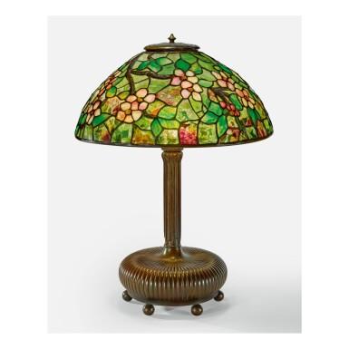 "TIFFANY STUDIOS | ""APPLE BLOSSOM"" TABLE LAMP"