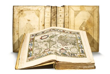 View 7. Thumbnail of Lot 53. BLAEU | Theatrum Orbis Terrarum. Amsterdam, 1640-1654, 5 volumes, folio, contemporary Dutch vellum gilt.