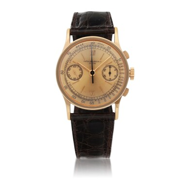 View 1. Thumbnail of Lot 13. REF 533 PINK GOLD CHRONOGRAPH WRISTWATCH MADE IN 1941 [百達翡麗533型號粉紅金計時腕錶,1941年製].