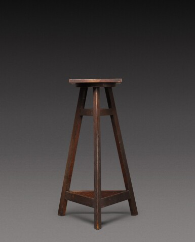 View 2. Thumbnail of Lot 181. A sculptor's oak tripod stand, probably French, 20th century.