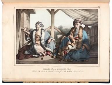 View 3. Thumbnail of Lot 47. Dupre. Voyage a Athenes et a Constantinople. Paris, 1825. folio, colour plates, twentieth-century blue half morocco gilt.