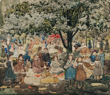 View 1. Thumbnail of Lot 34. Holiday in the Park (May Day, Central Park).