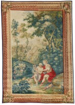 THREE GOBELINS MYTHOLOGICAL TAPESTRIES, FROM THE SERIES OVID'S METAMORPHOSES, GOBELINS WORKSHOP, WITH FIGURES AFTER NICOLAS BERTIN AND LANDSCAPES OF ROBERT FRANÇOIS BONNART 18TH CENTURY